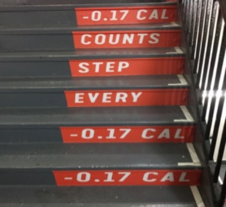 Picture 3. Climbs these six stairs and you've burned...1 calorie?