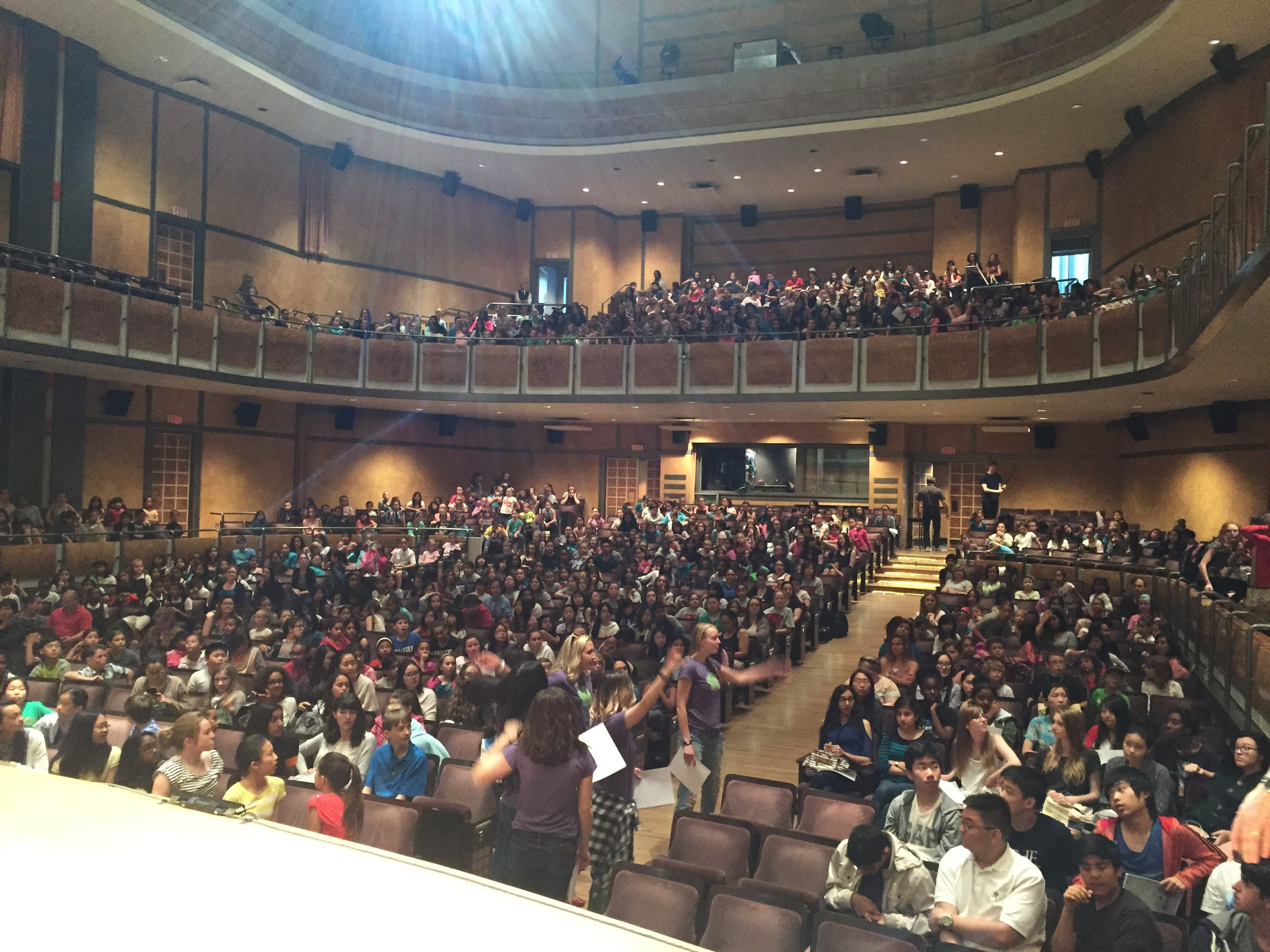 That's not the audience...that's 800 children waiting to get on stage!!! Total insanity!!!