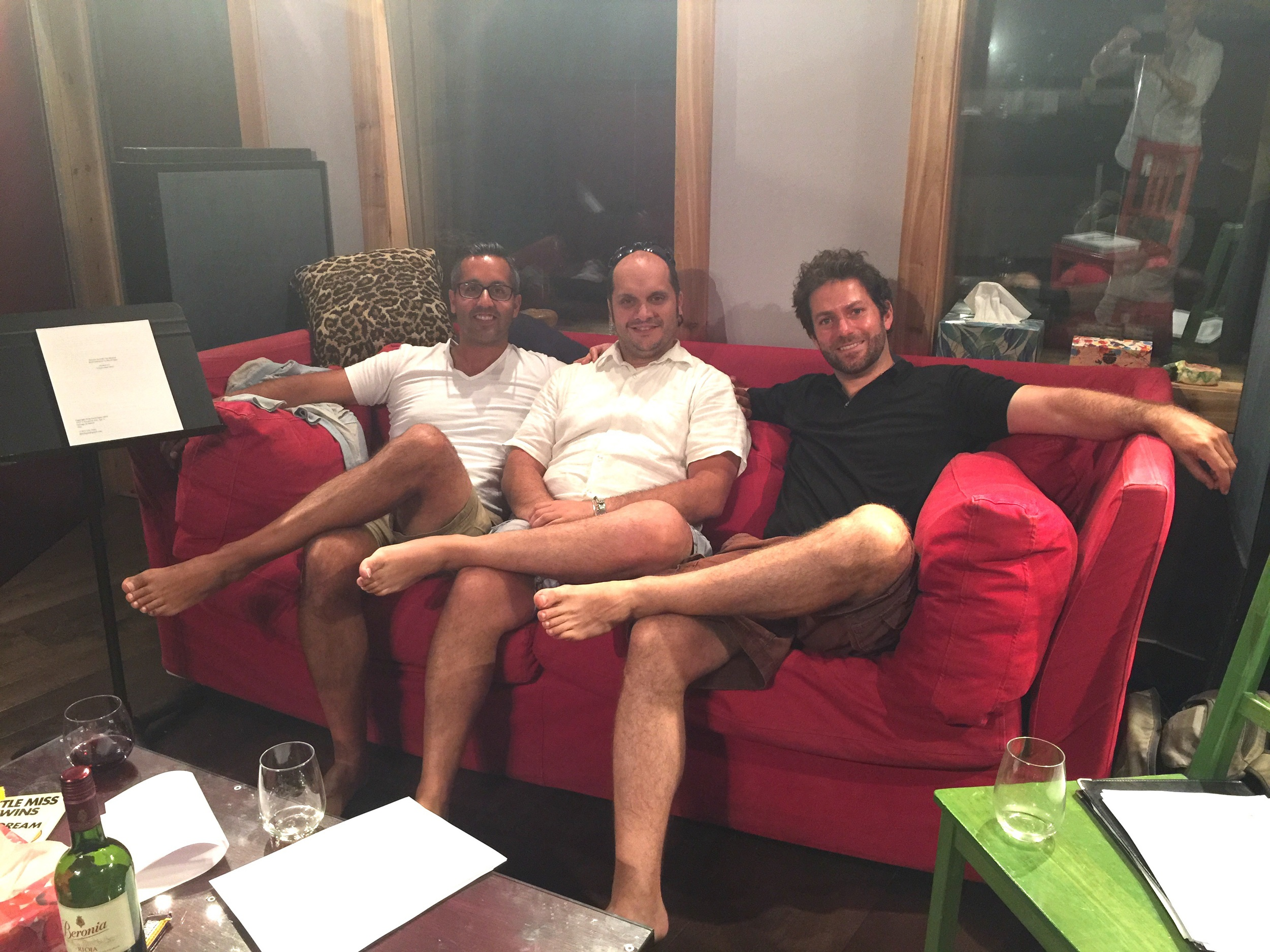 Charles Roy (creative producer), Mark Camilleri (composer) and David Eagin (writer)