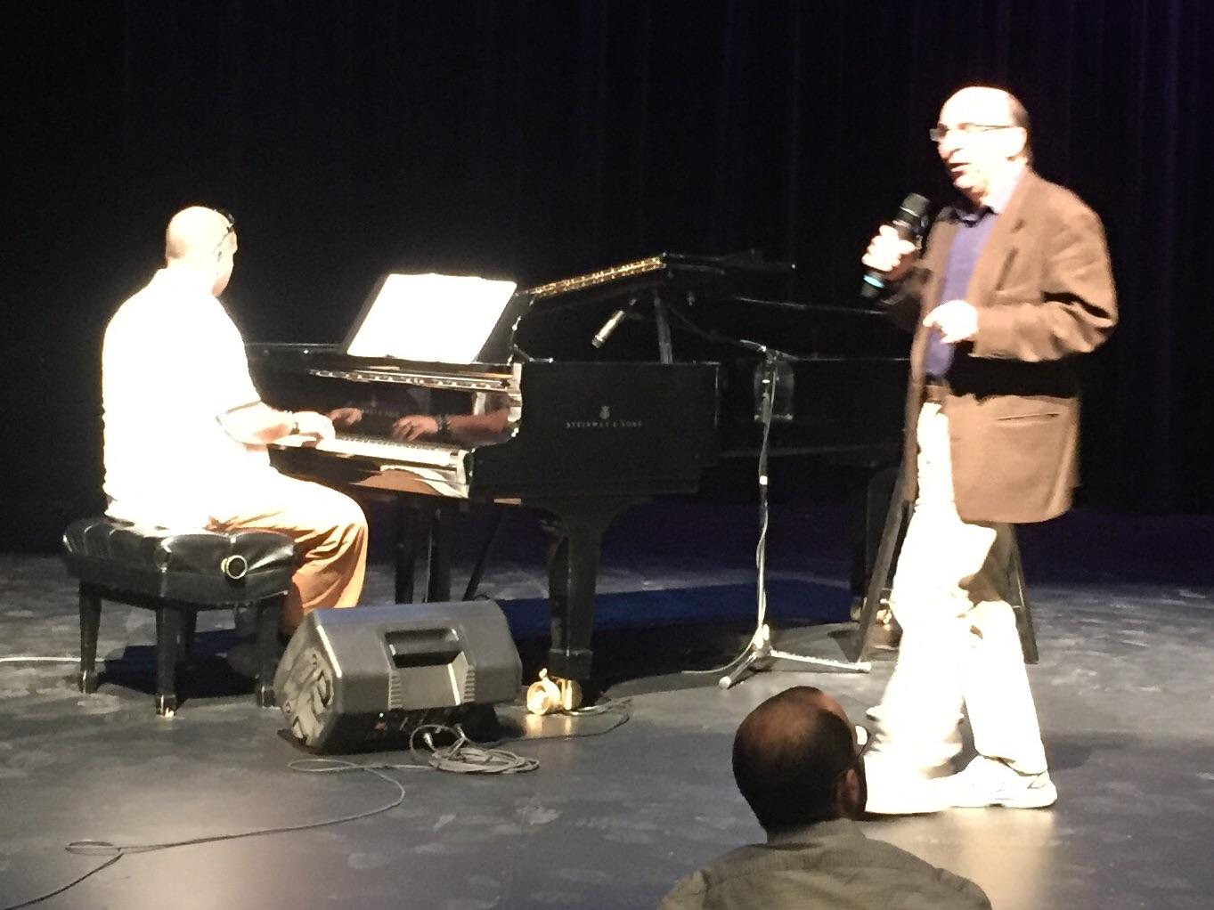 Matt Brimbaum (technical director for the Harold Green Jewish Theatre Company) enjoying rehearsal.