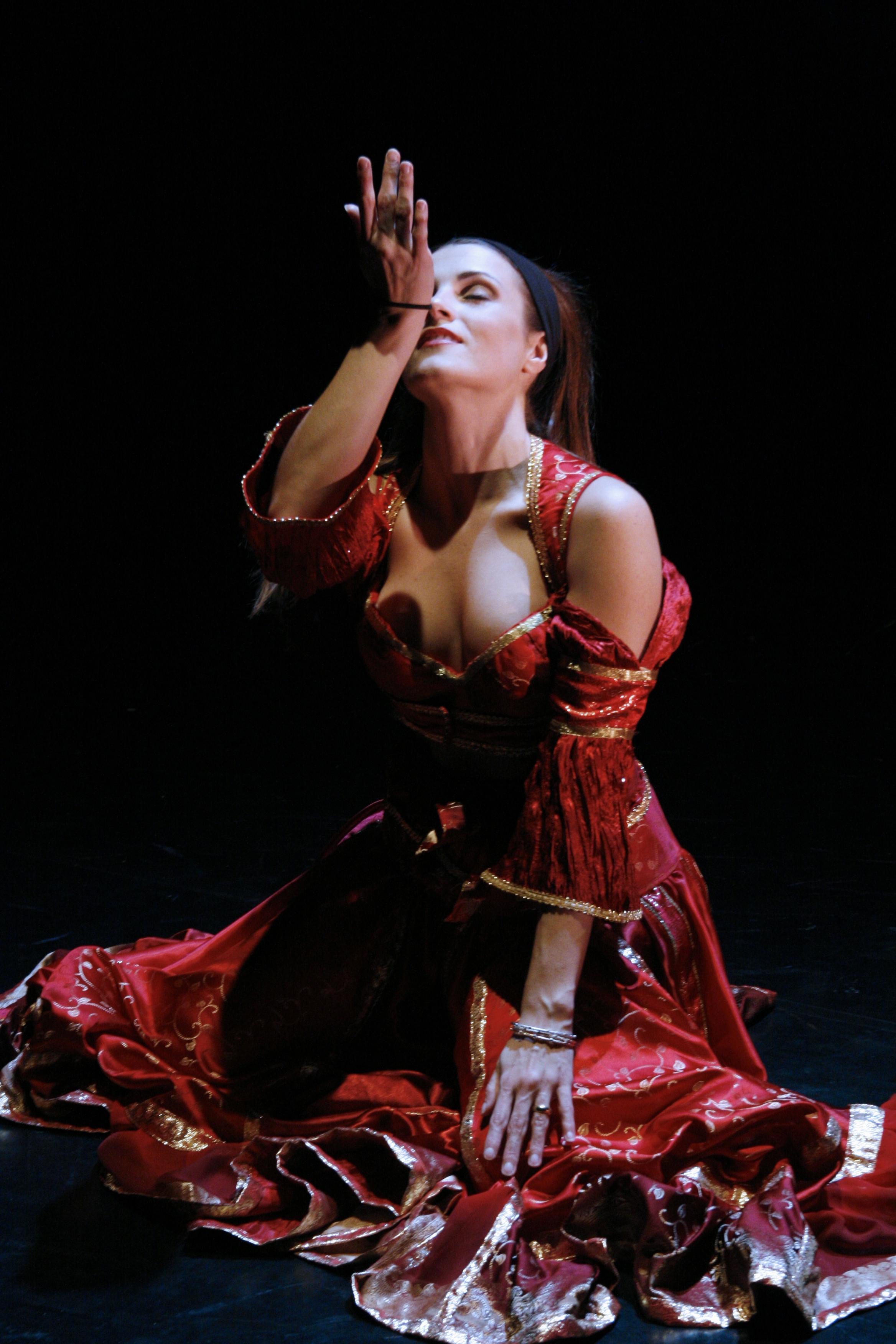 Photo by Loyal Auterson, Missouri State University Fall Dance Concert, 2006, performing a Romani/Oriental fusion dance