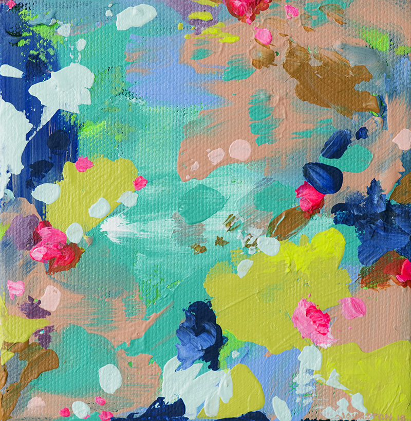 Laura Johnston This Land is My Land 5x5 acrylic on canvas March 2015