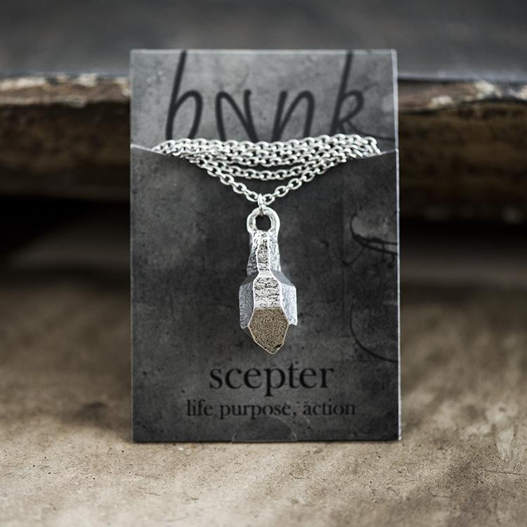 D'lera Pewter Quartz Necklace
