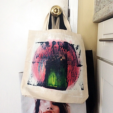 Along with the new painting came this awesome original tote!