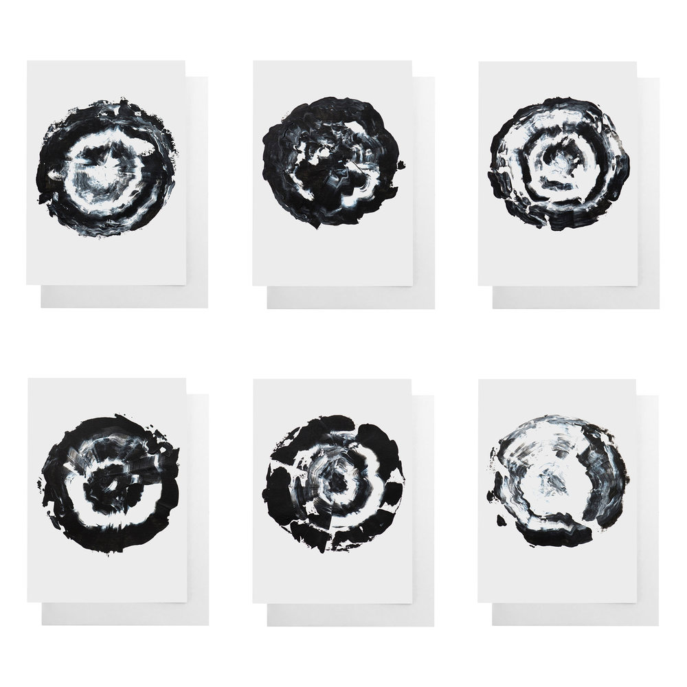 Set of 6 note cards expertly printed by Ashley at Cult Paper - available  here .