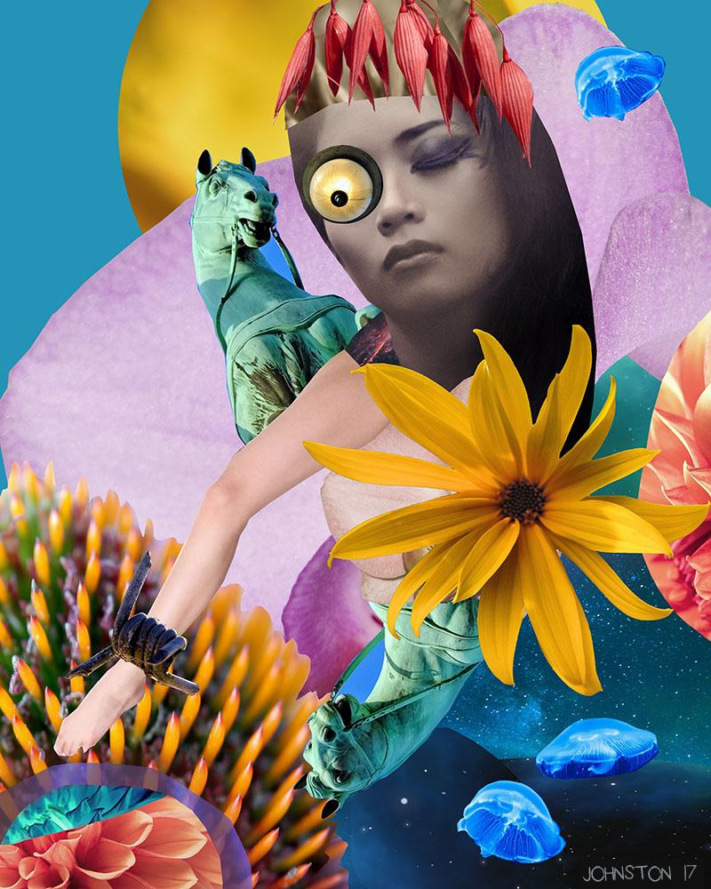 Laura Johnston Princessa (The Beginning of Sausaged) Digital Collage 2017