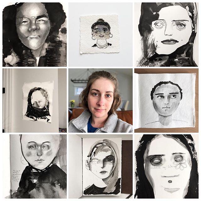 I will keep going. ⠀⠀⠀⠀⠀⠀⠀⠀⠀ #artvsartist #artvsartist2019 #artists #artworkyoushouldtotallyfollow #artistsbeingslepton #abstractportraits #blackandwhiteart #resilient #expressionism #carveouttimeforart #expressiveart