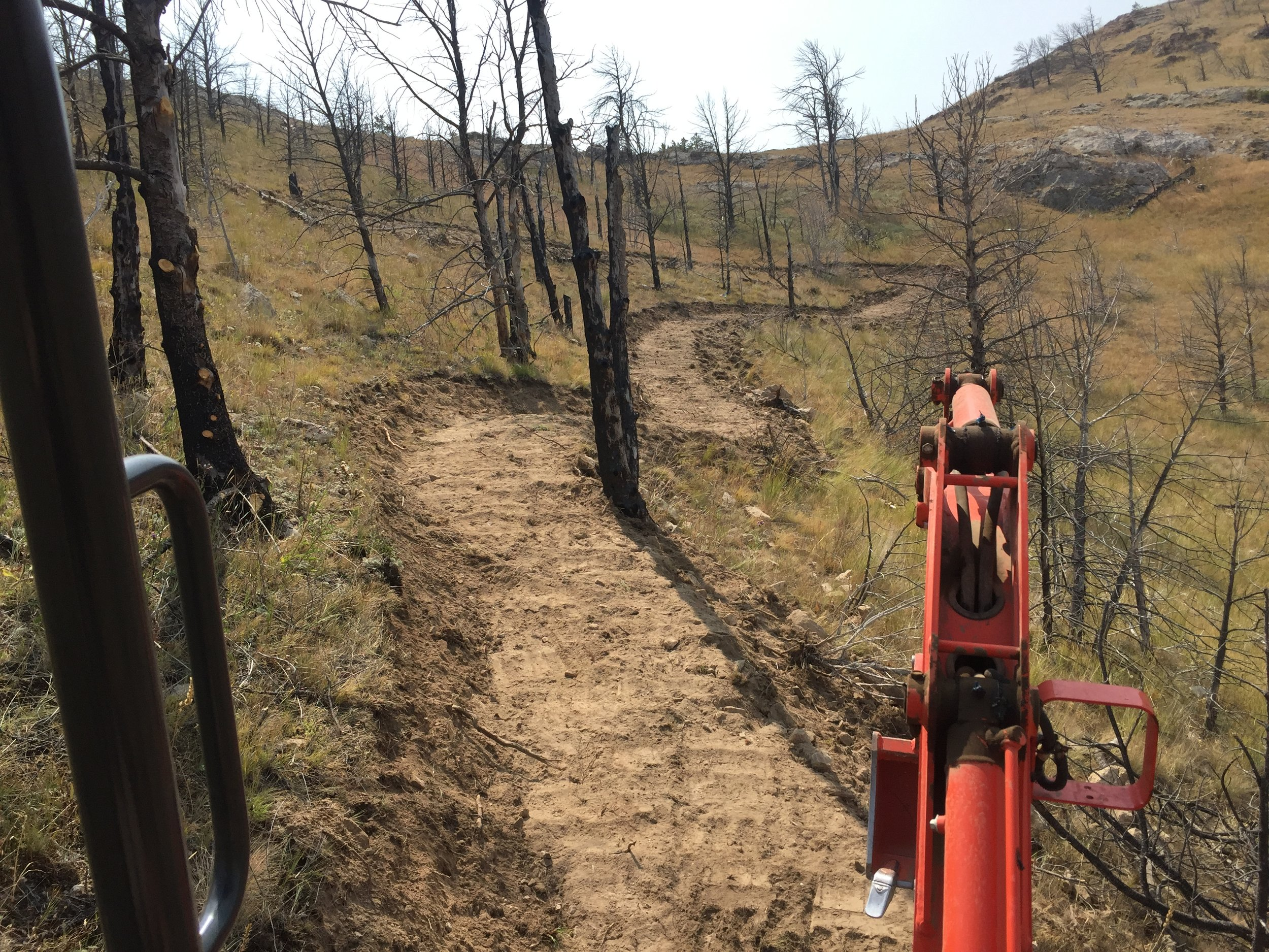 Mother Lode trail being built .Copper city ,MT