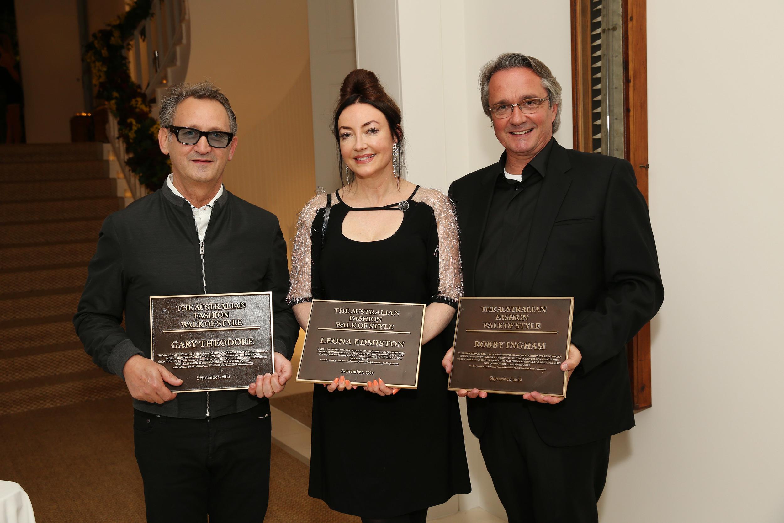 Gary Theodore, Leona Edmiston and Robby Ingham
