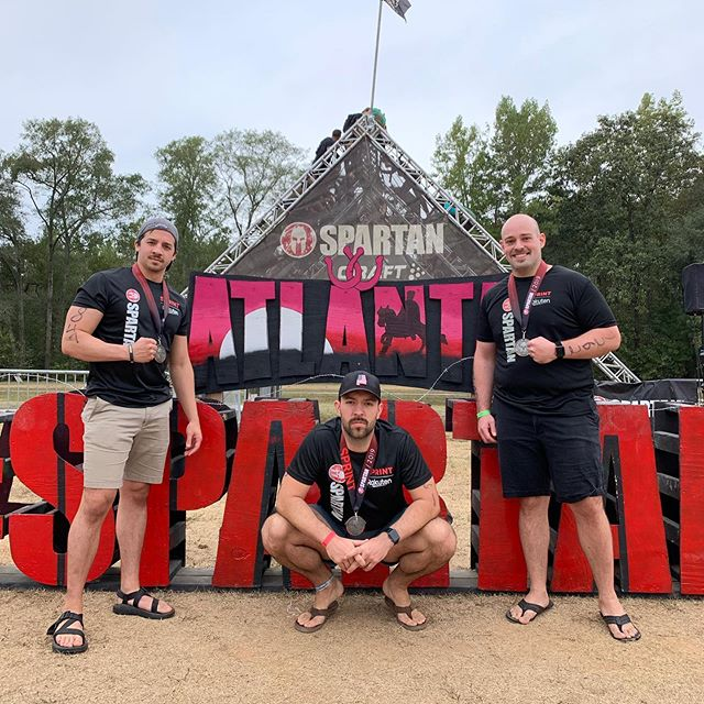 Another great @spartanrace! Running with this group has been so awesome. We challenge and push each other to do things we never thought we could do. Here's to one more for the Trifecta!  #atlantasprint #spartantrifecta #alabamahammers
