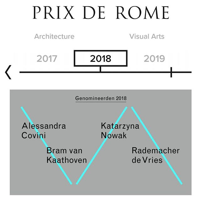 Happy to announce to be shortlisted for Prix de Rome 2018.