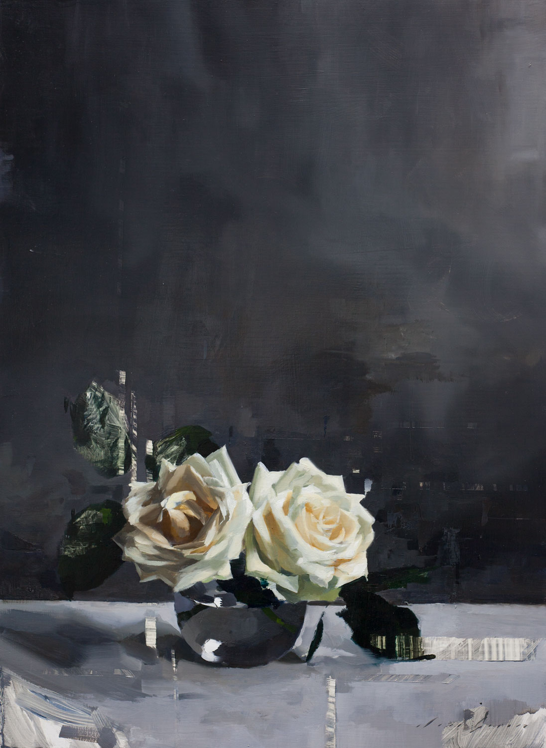 White Roses and Grey
