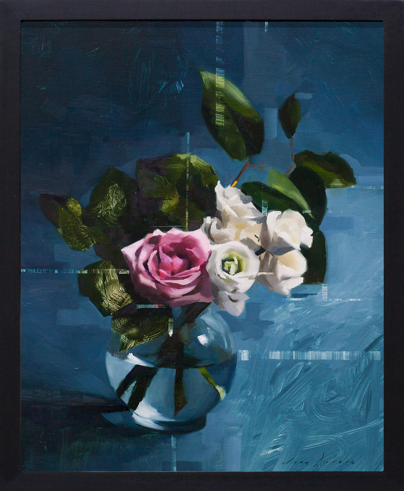 Rose, Lisianthus and Blue