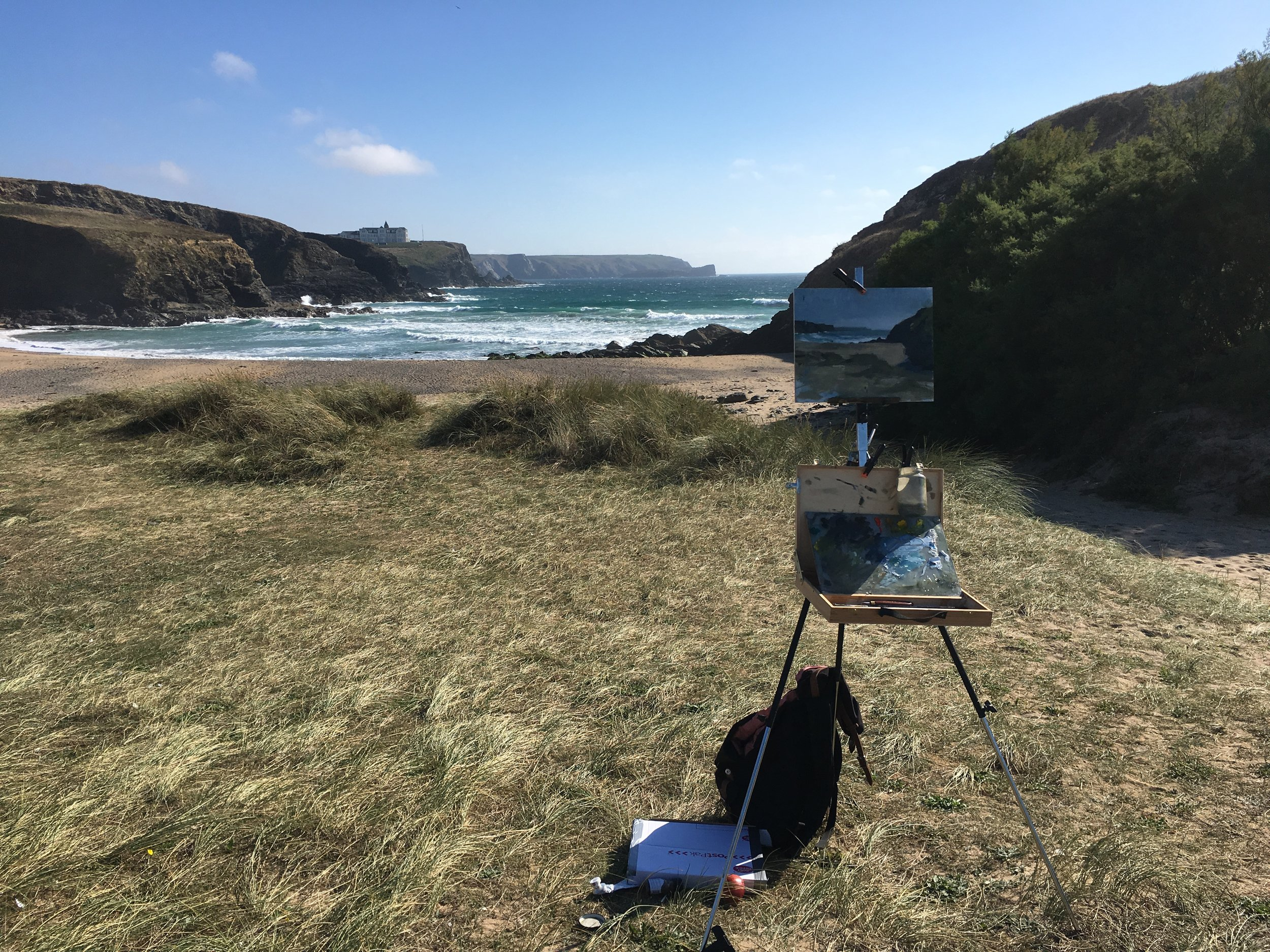 The Cornwall Landscape - dates to be confirmed 2019, meet at the studio and then on to location(materials provided) Course is limited to 4 painters.£295.00Located out in the dramatic Cornish landscape, Jon will take students to some of his favourite local spots for a plein-air based course. Students will be equipped in how to simplify their materials to the very essentials, and then will go to a number of sites. Plein-air painting provides a number of different obstacles, of which Jon will show how to navigate.To enquire or reserve a place please email through the link below(£100 deposit)