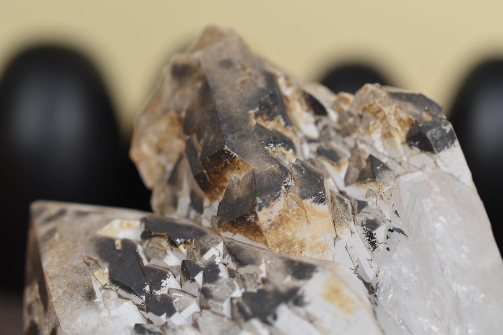 Quartz with Black Manganese Oxide, Georgia, USA
