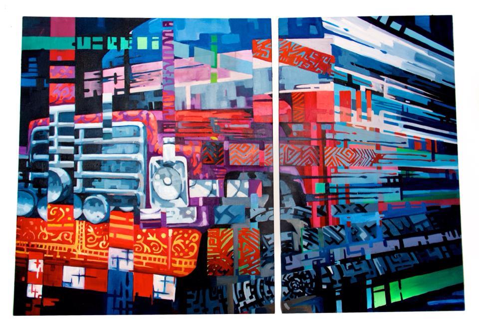 Copy of Desintegración, 2013. Oil on canvas