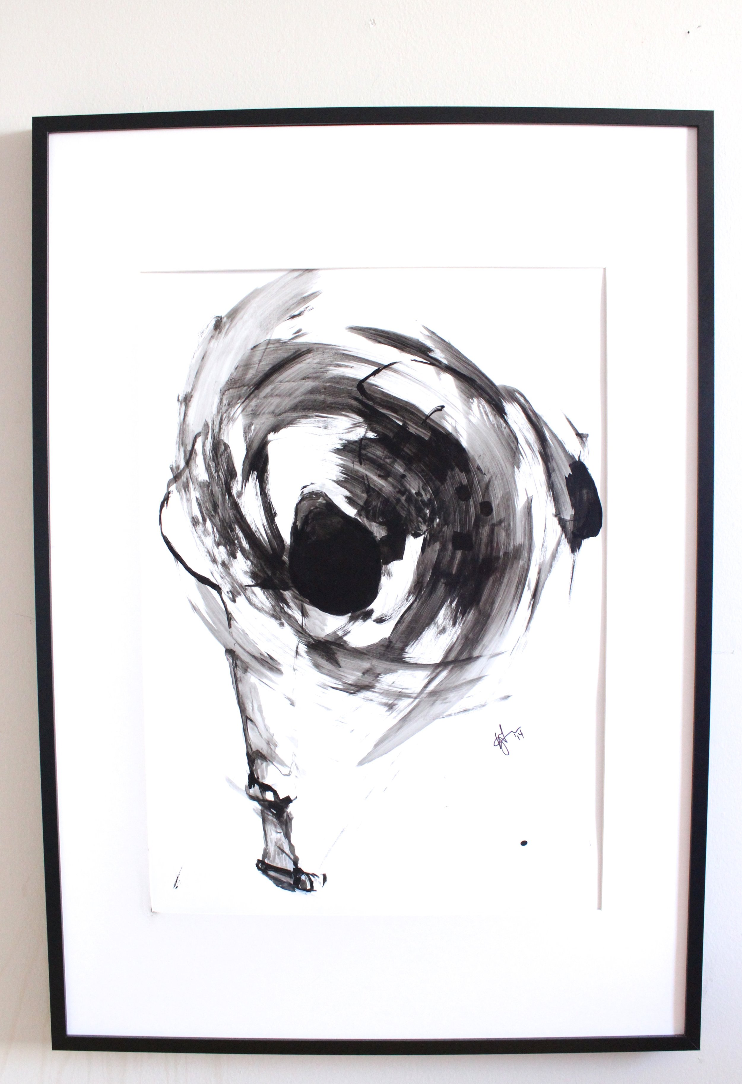 Copy of Uchimate Judo Throw, 2014. Ink on paper. 36x48