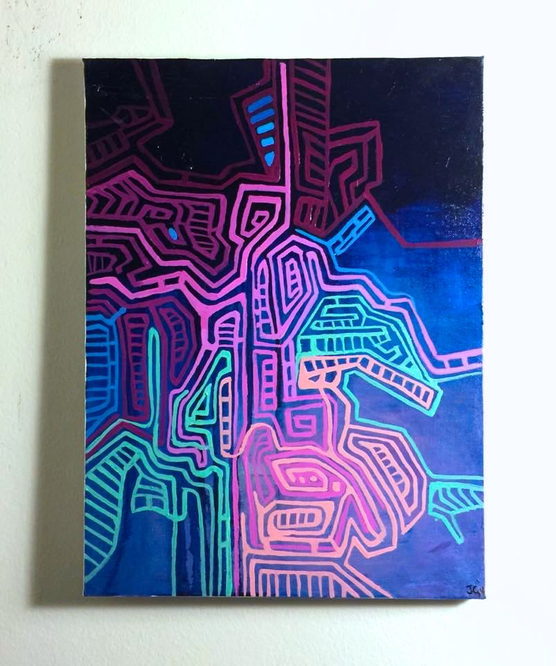 Copy of Mapa, 2014. Oil on canvas. 18x24