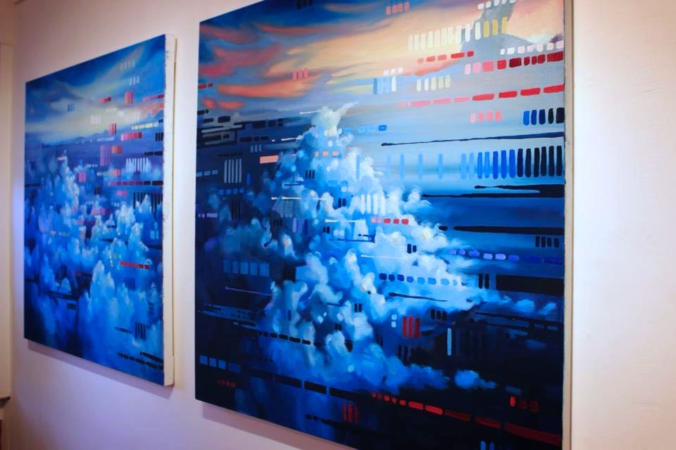 In Transition, 2012. Oil on canvas. 16'x4'