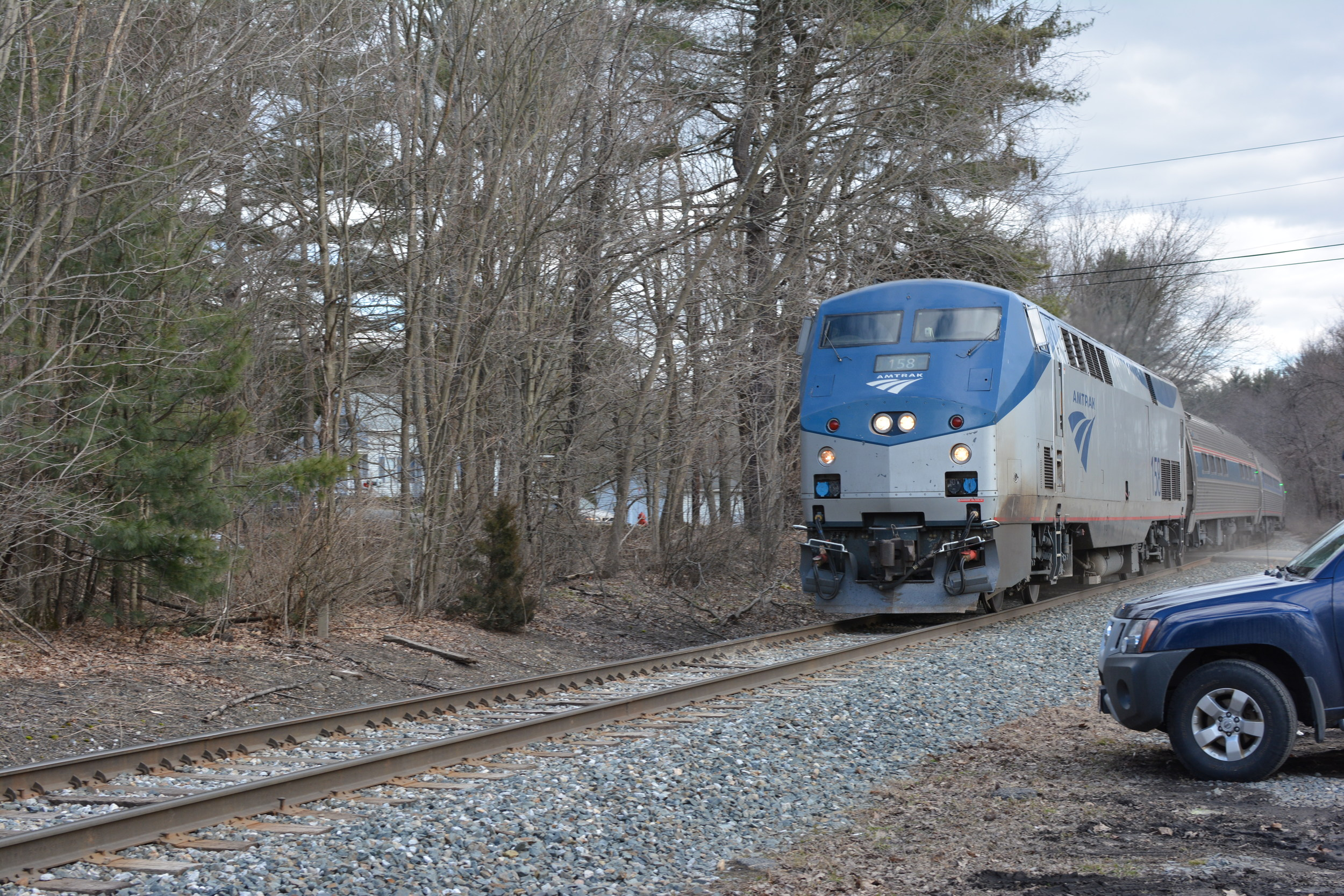 Amtrak Vermonter through Cushman MA. 4/07