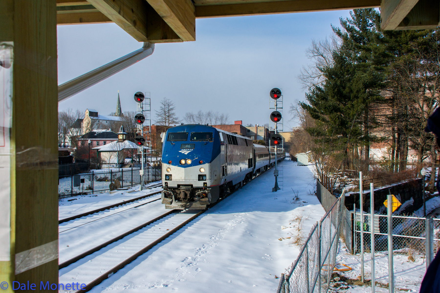 Amtrak Vermonter through Greenfield MA, 1/15