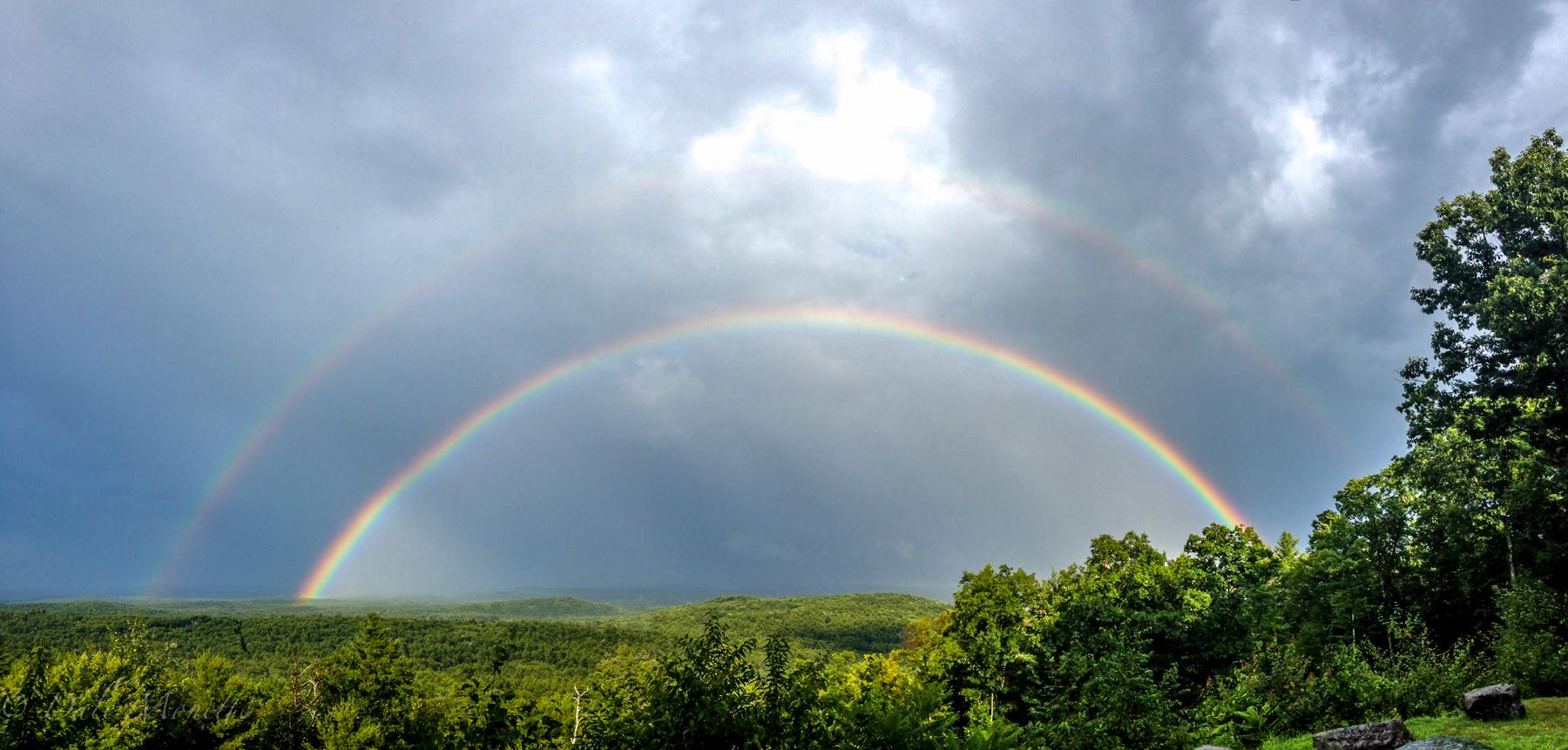 Double rainbow in New Salem