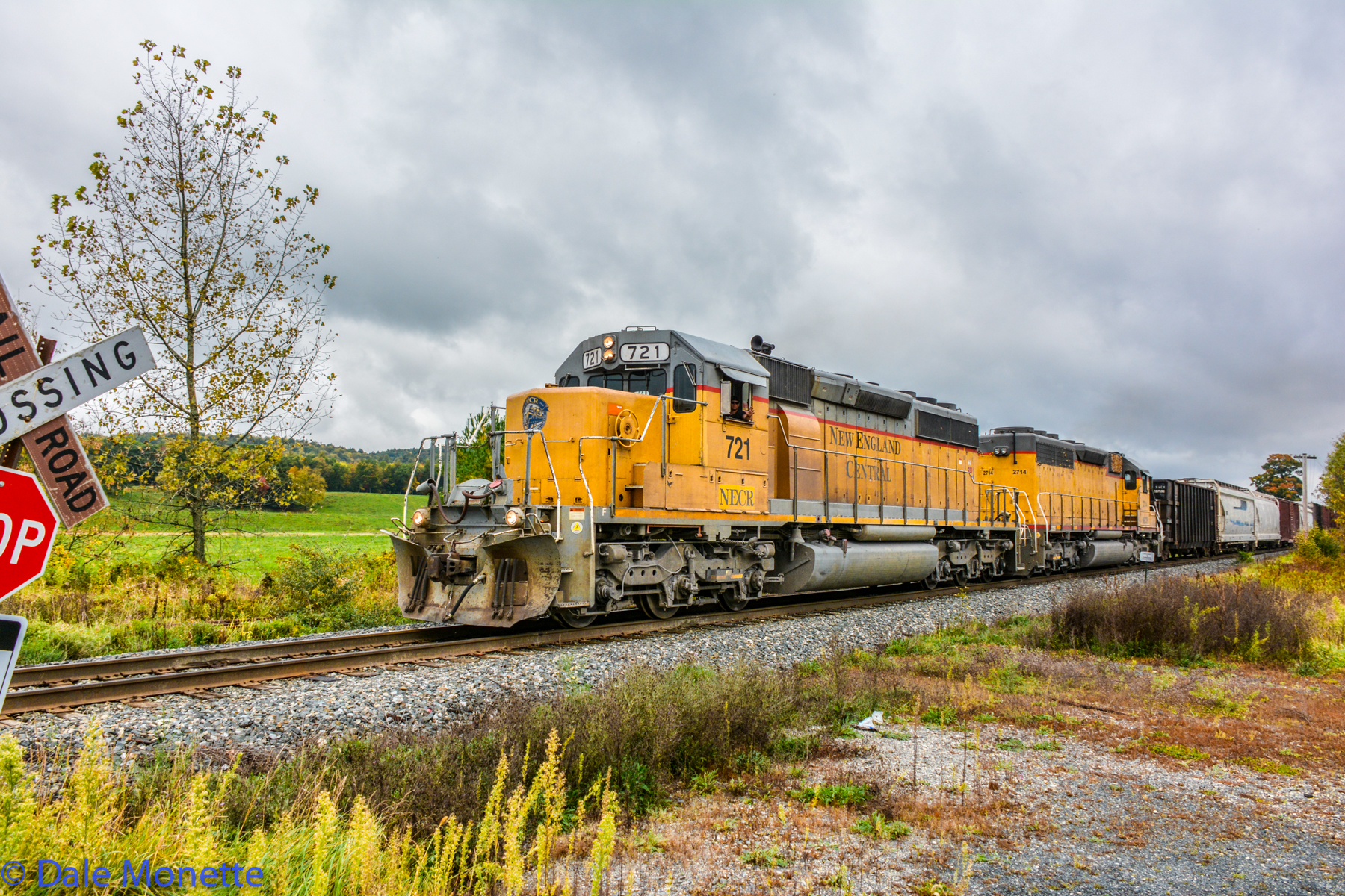 New England Central heading south in Northfield MA