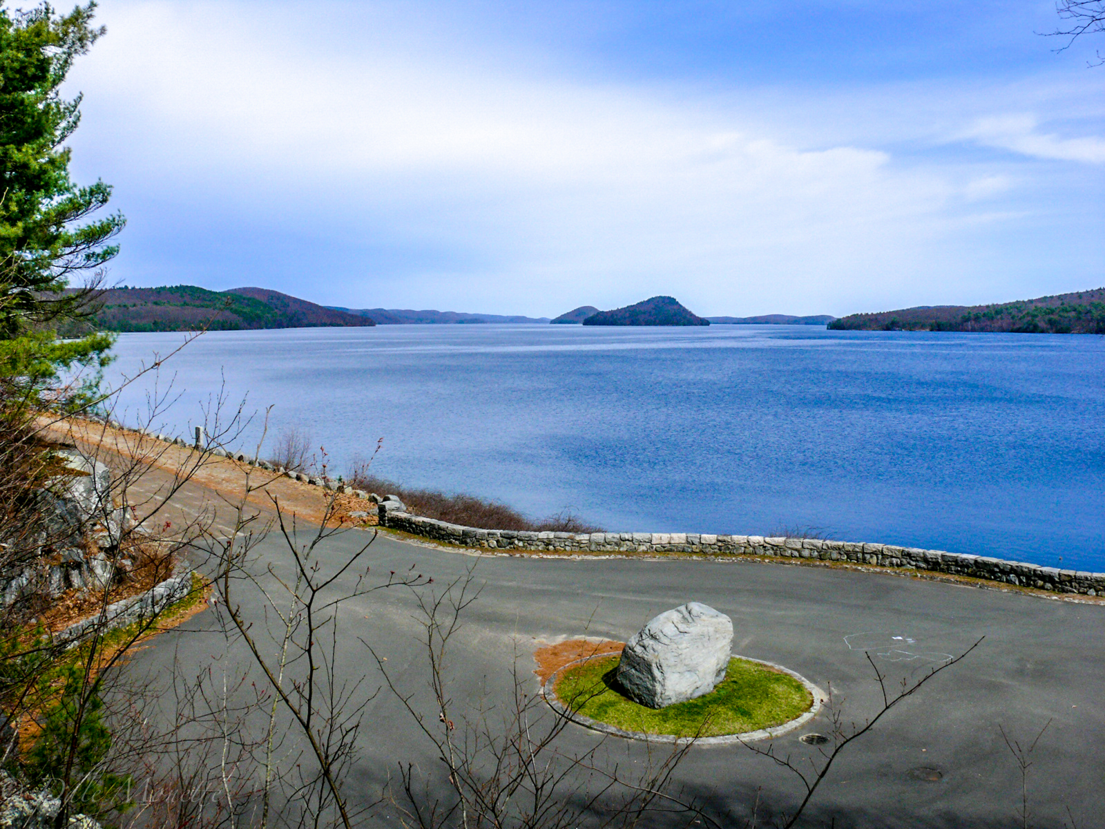 This is looking north from the Goodnough Dike in the Quabbin Park with Mt. Lizzie and Mt. Pomeroy in the distance.