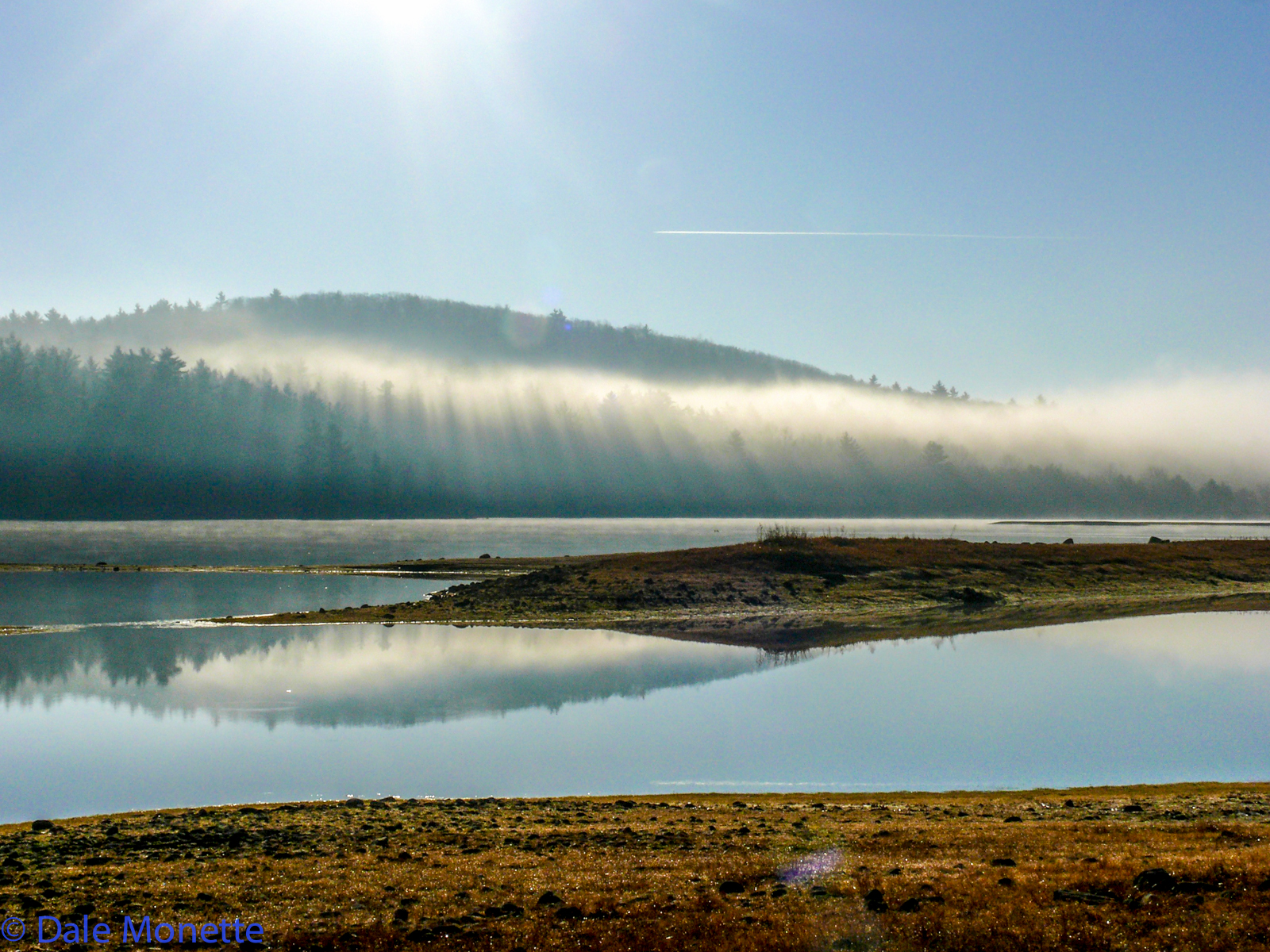 Late fall, North Dana fog dissipates under the sun.