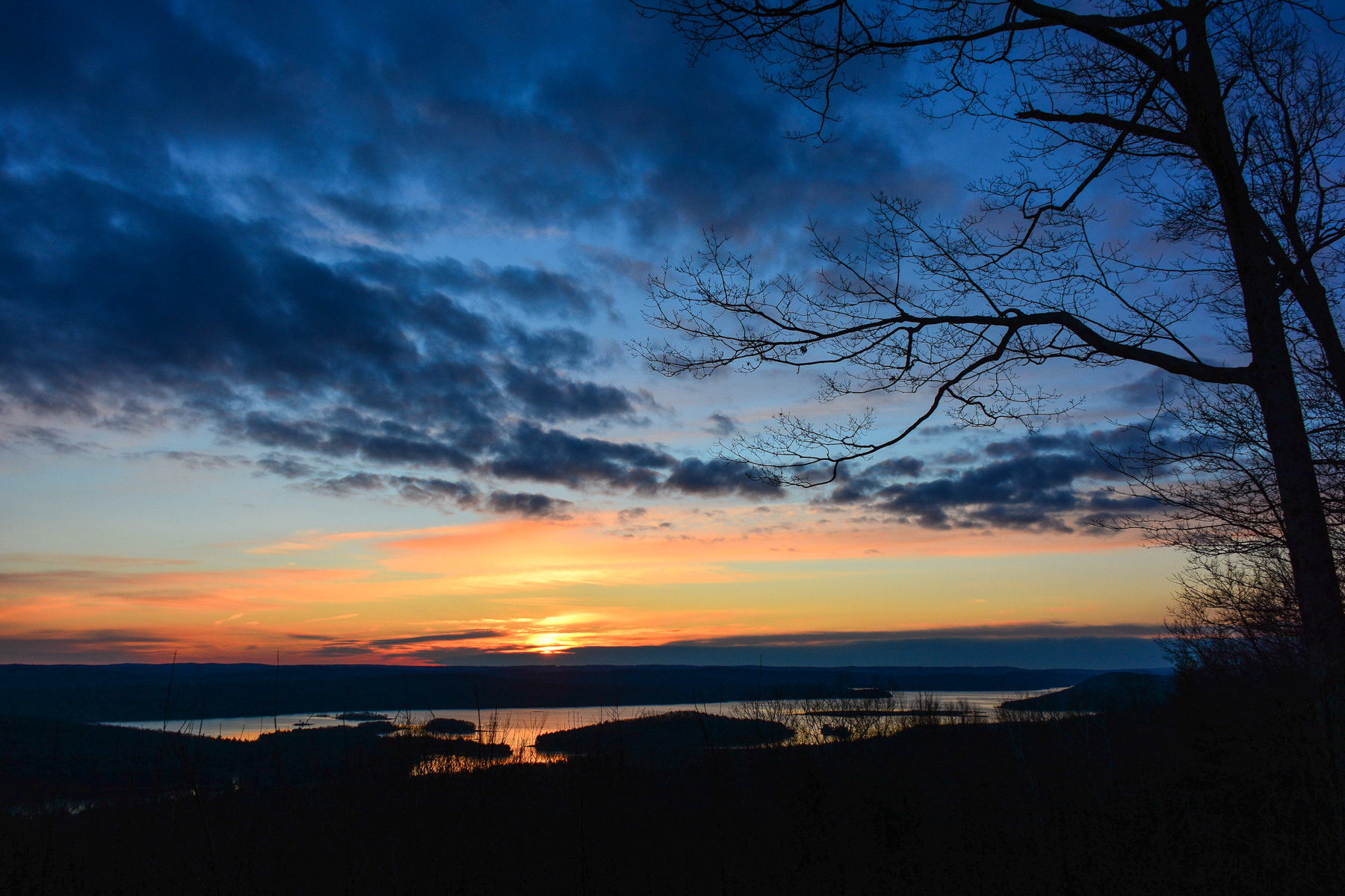 Sunrise, New Salem Lookout, December 31st, 2014.