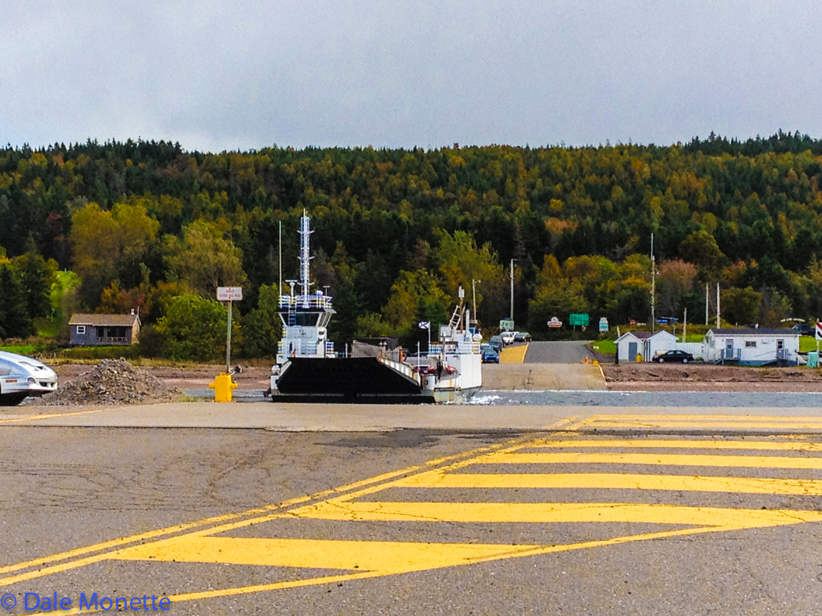 The Englishtown Ferry. Its a small ferry that runs on a huge cable. It saves you 30 minutes off your trip.