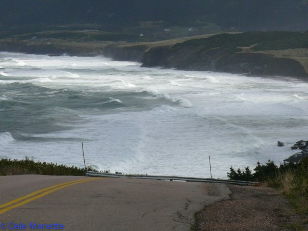 The entrance to the Bay St. Lawrence cove. The waves get to be HUGE sometimes up there.