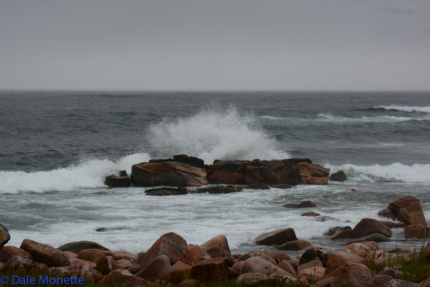 Neils Harbor.  Storms generate tremendous waves right on the North Atlantic coast.