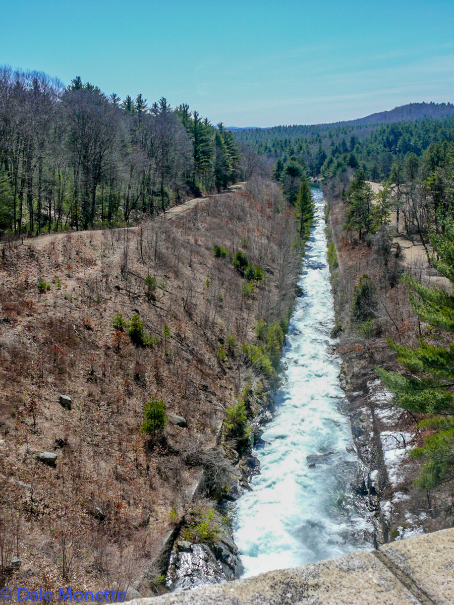 In the spring when the Spillway dam is flowing over its quite a sight. It has only flowed over 50% of the years since constructed.