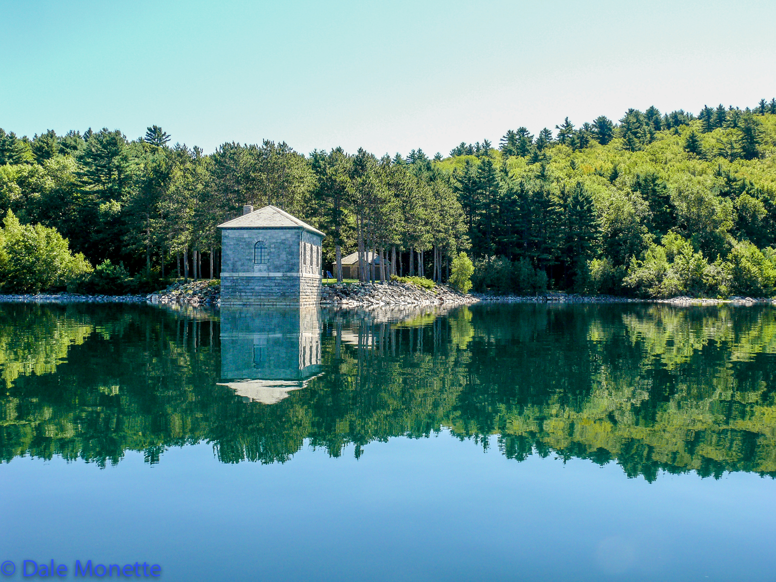 Here is where the water starts it's way to the Boston area thru the Wachusett Reservoir some 24 miles to the east. Shaft 12, the start of a long 24 mile underground tunnel.