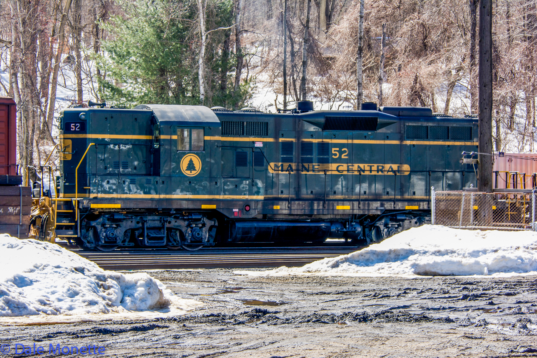 Maine Central Alco working in the East Deerfield Pan Am RR yard.  Where this came from I have no idea! 3/12/15