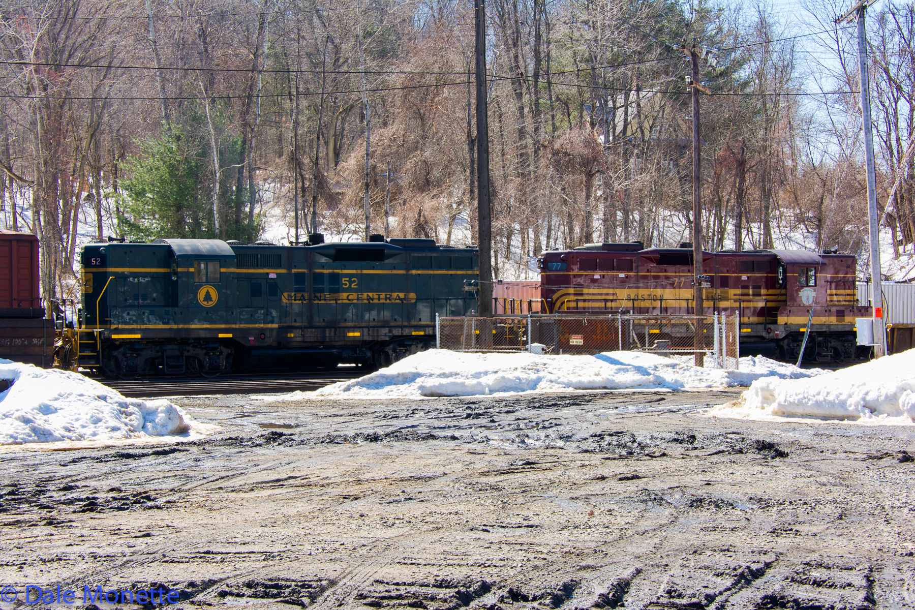 Here's both Alco's lashed together working the East Deerfield Pan Am train yard putting a train together.  3/12/15