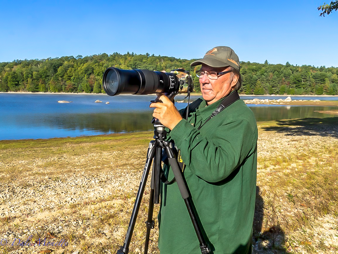 Here's a photo taken of me and the Nikkor 200-500mm f/5.6E ED VR lens and my trusty Nikon D810 camera.