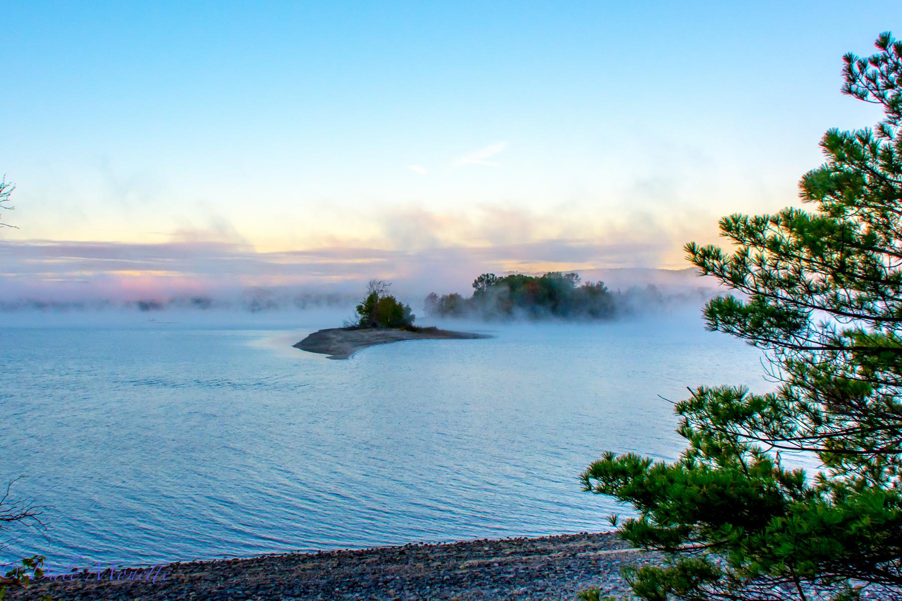 Early morning fog dissipating at Quabbin.   10/6/15