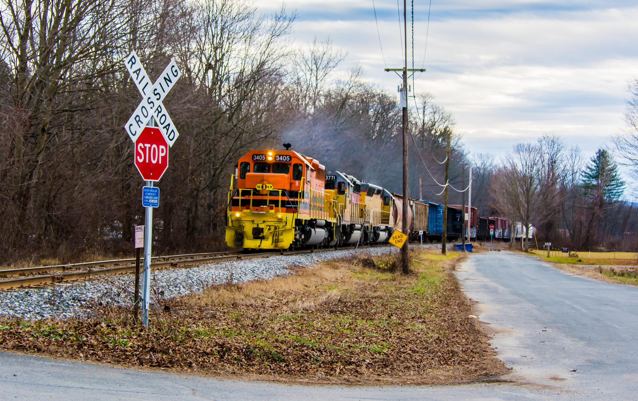 New England Central Railroad at Northfield MA