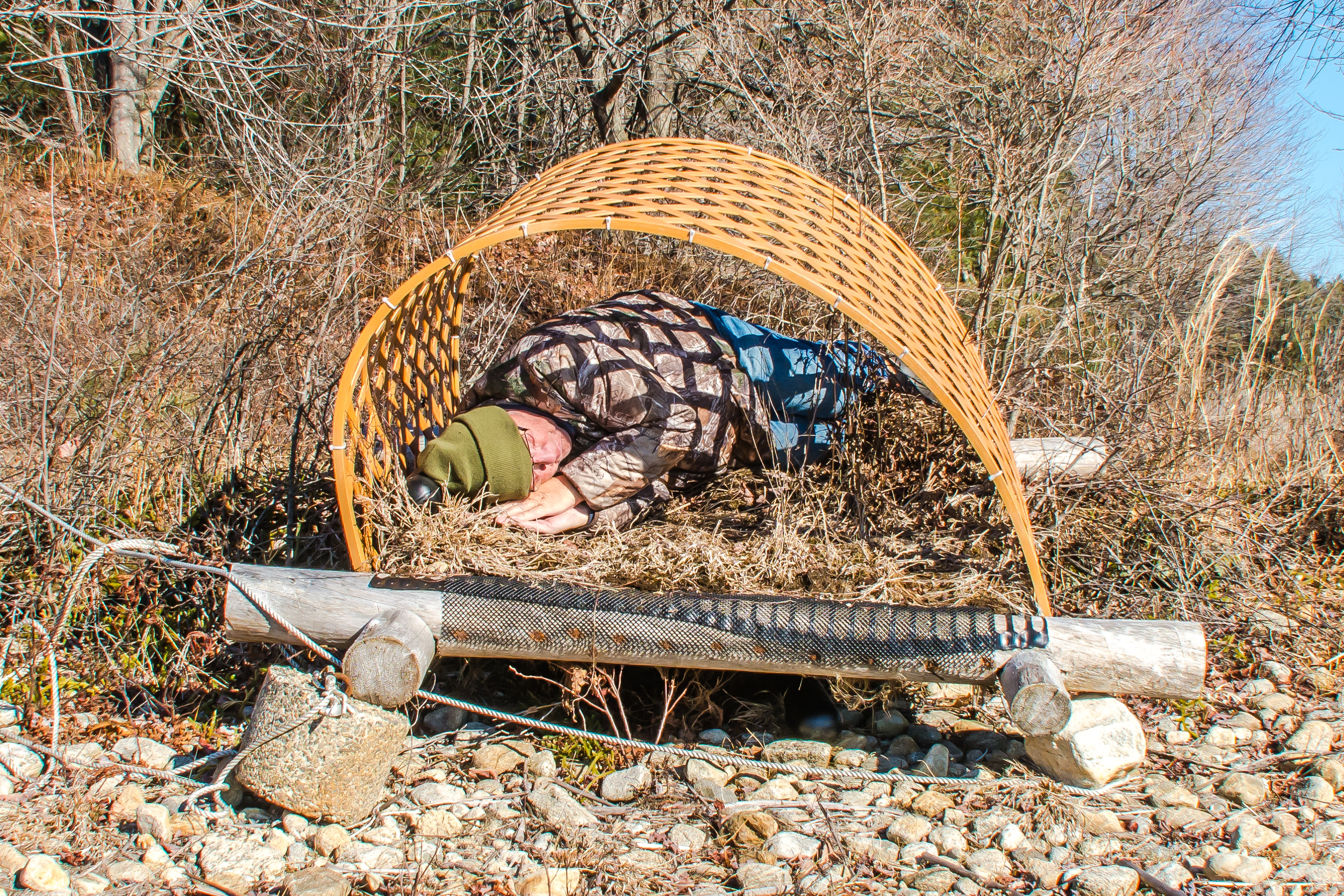 I personally make sure every loon raft is comfortable for our nesting loons the coming summer. Its a tough job and takes a tough man to complete the checklist of demands the loons require for a full nesting season. We launch about 8 rafts at Quabbin each year.Here I am in action in my breeding plumage testing one of the loon rafts last Friday. :)