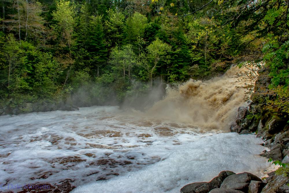 Heavy rains last night on Cape Breton really gave us some wild water today ! Mary Ann Falls, Cape Breton Highlands National Park, Nova Scotia, Atlantic Canada. 6/13/16