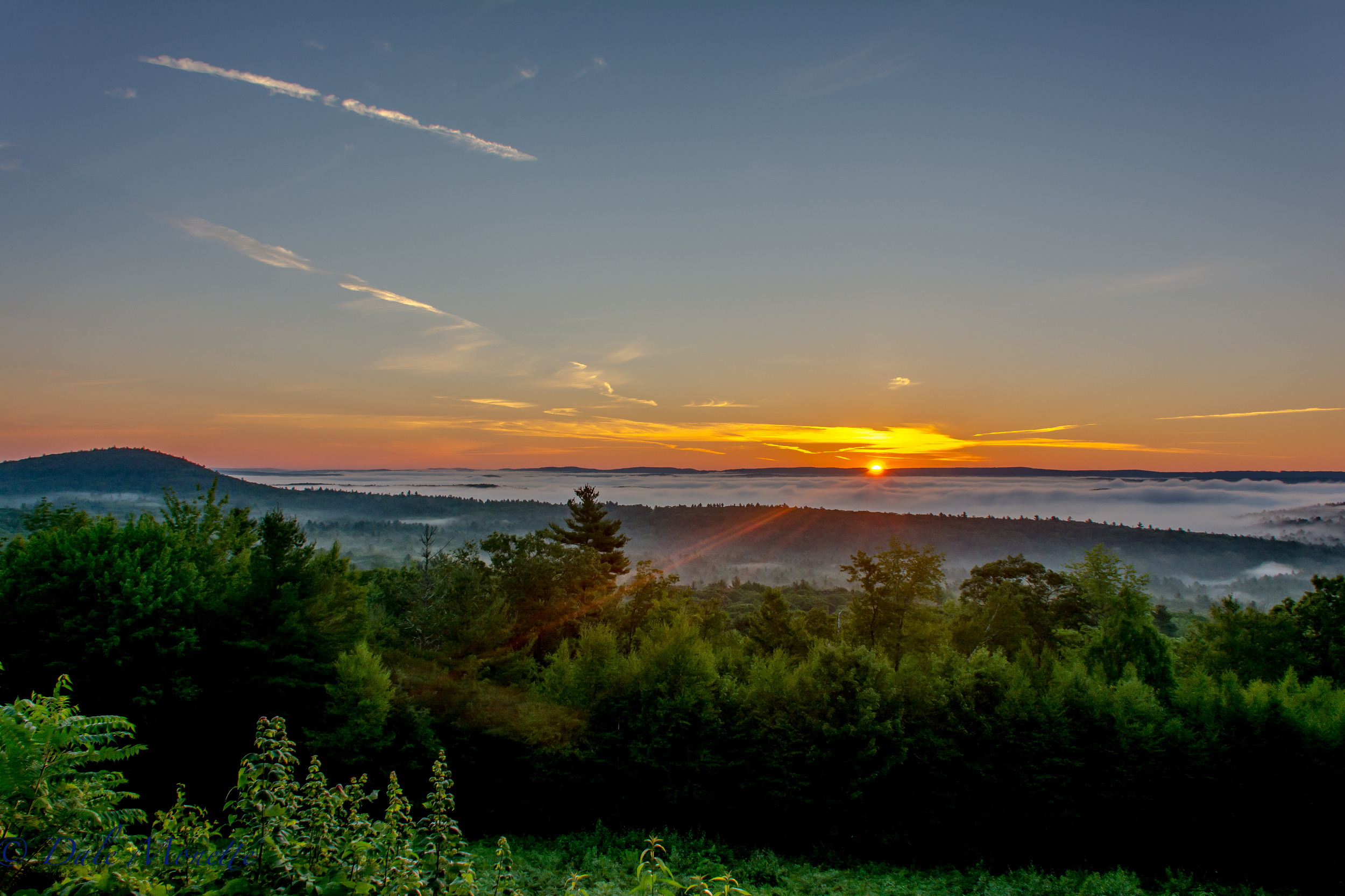 Sunrise over northern Quabbin .... 8/3/16