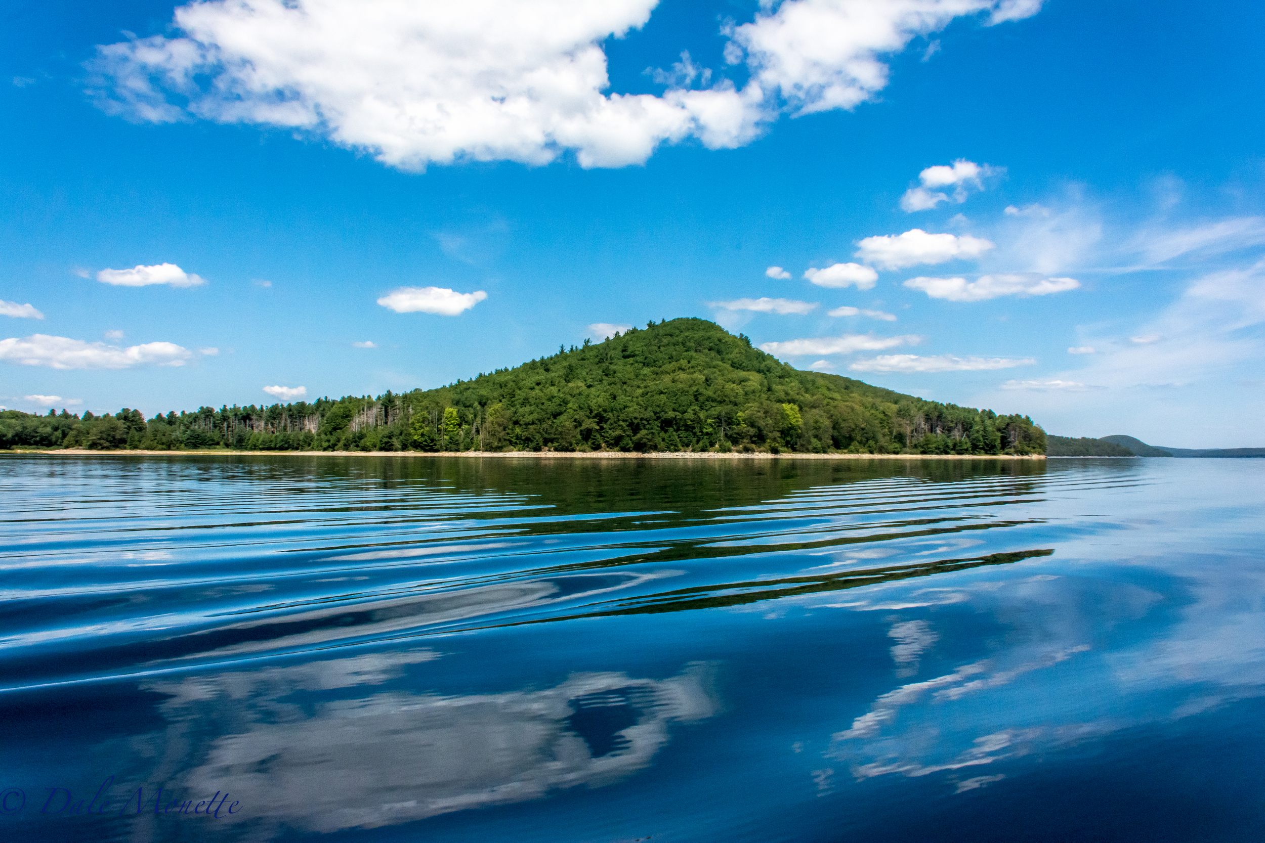 Mt Ram at the south end of the Prescott Peninsula. You see this from the Enfield Lookout. I was in a boat and we were right over the town of Enfield, or what used to be Enfield before the Quabbin was built. 8/9/16