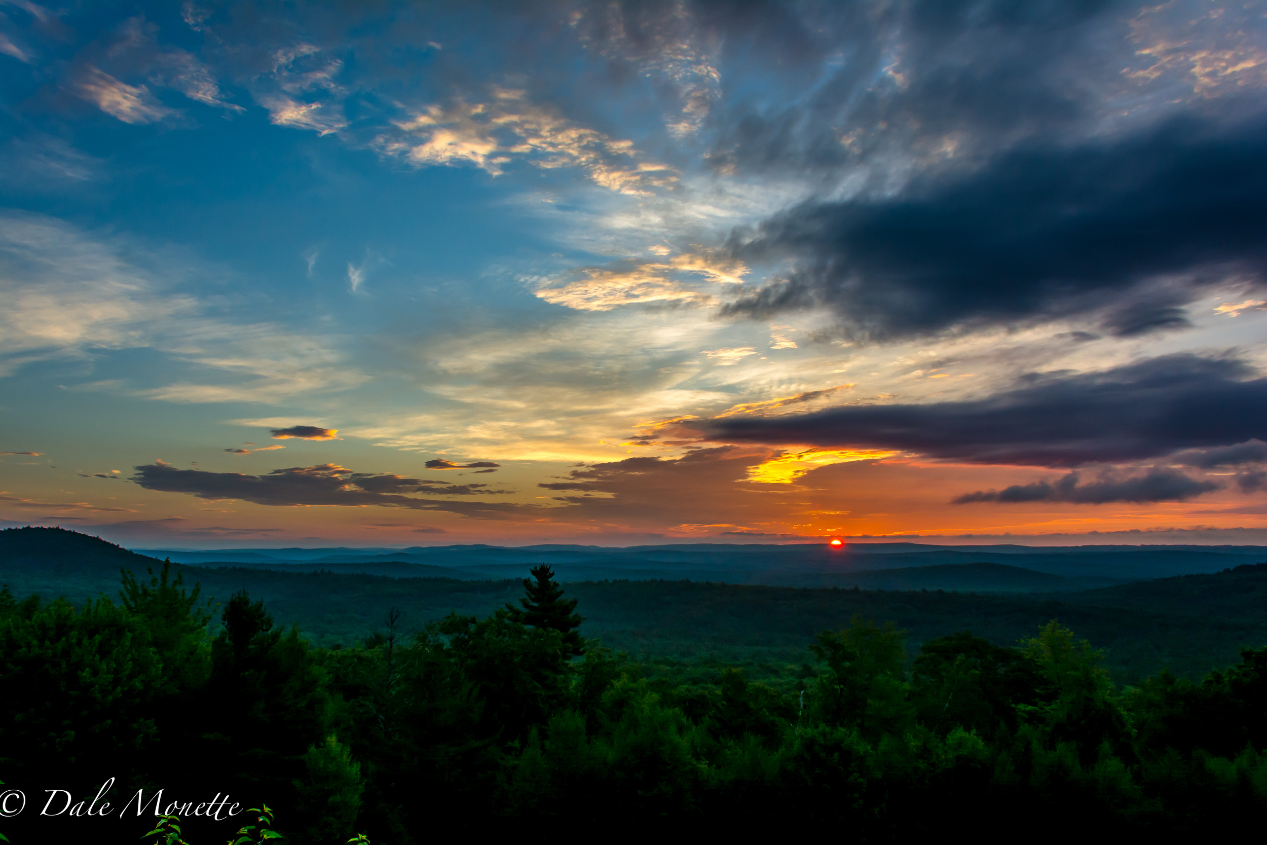 Its going to be a hot day. Sunrise over northern Quabbin. 8/12/16