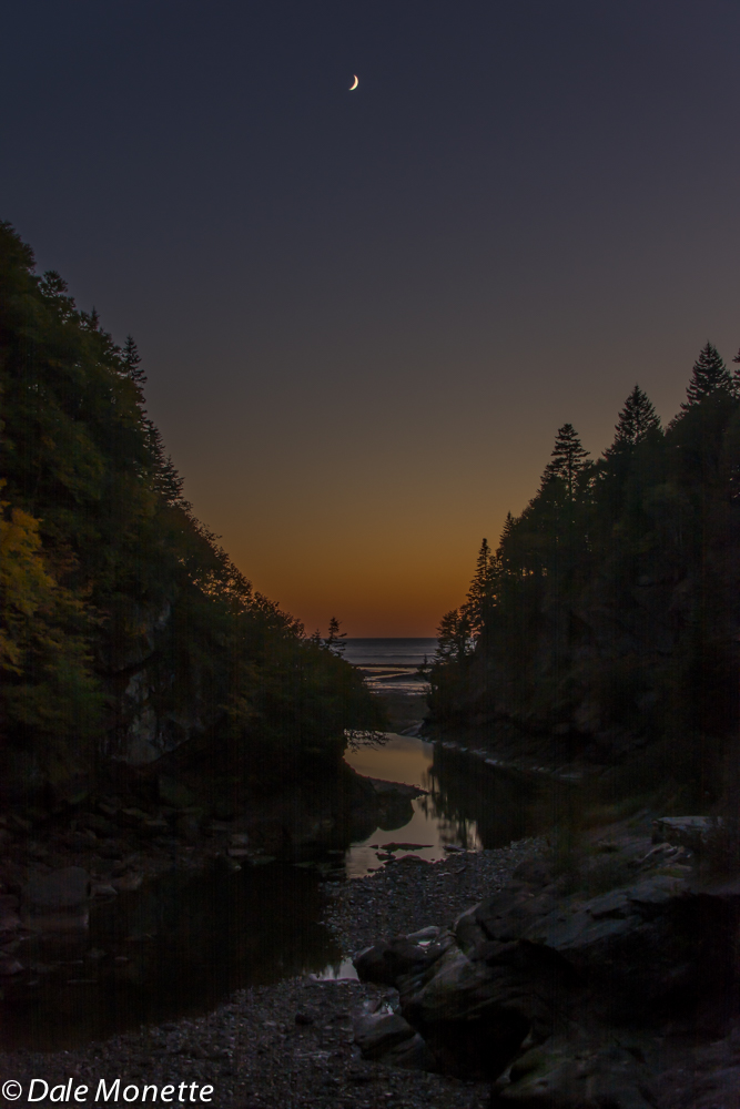 Point Wolfe River flowing into the Bay of Fundy,  Alma, New Brunswick, Canada.  10/5/15