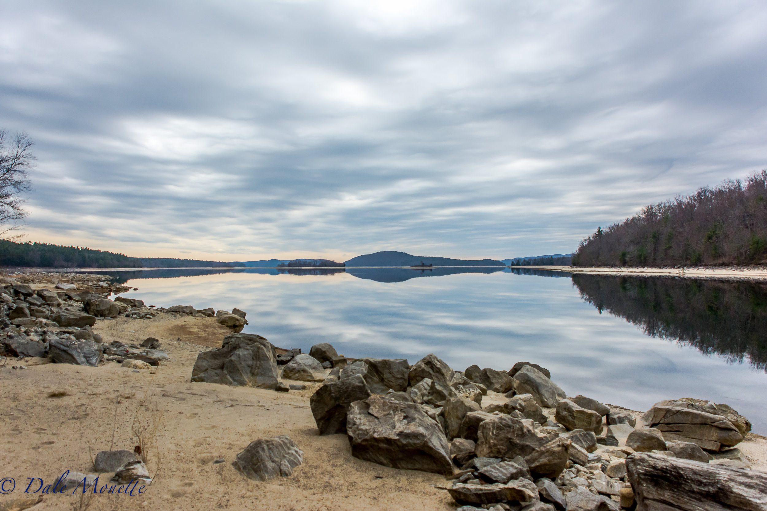 The last 2 morning at Quabbin have been pretty slow, especially today. i've spent 10 hours along the shore in coyote-ville with no luck. Today on the way out the sky was pretty awesome with the rain slowly rolling in. 4/12/17