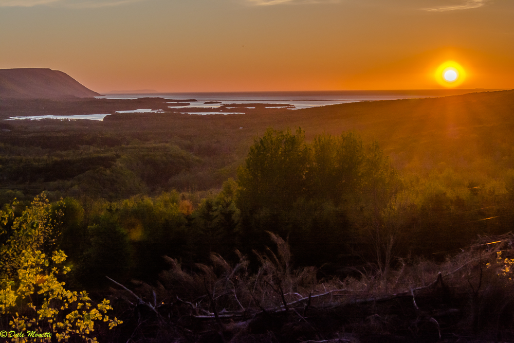 Sunrise Valley, Cape Breton looking out over Aspy Bay this morning....put on your sunglasses !!  6/12/17