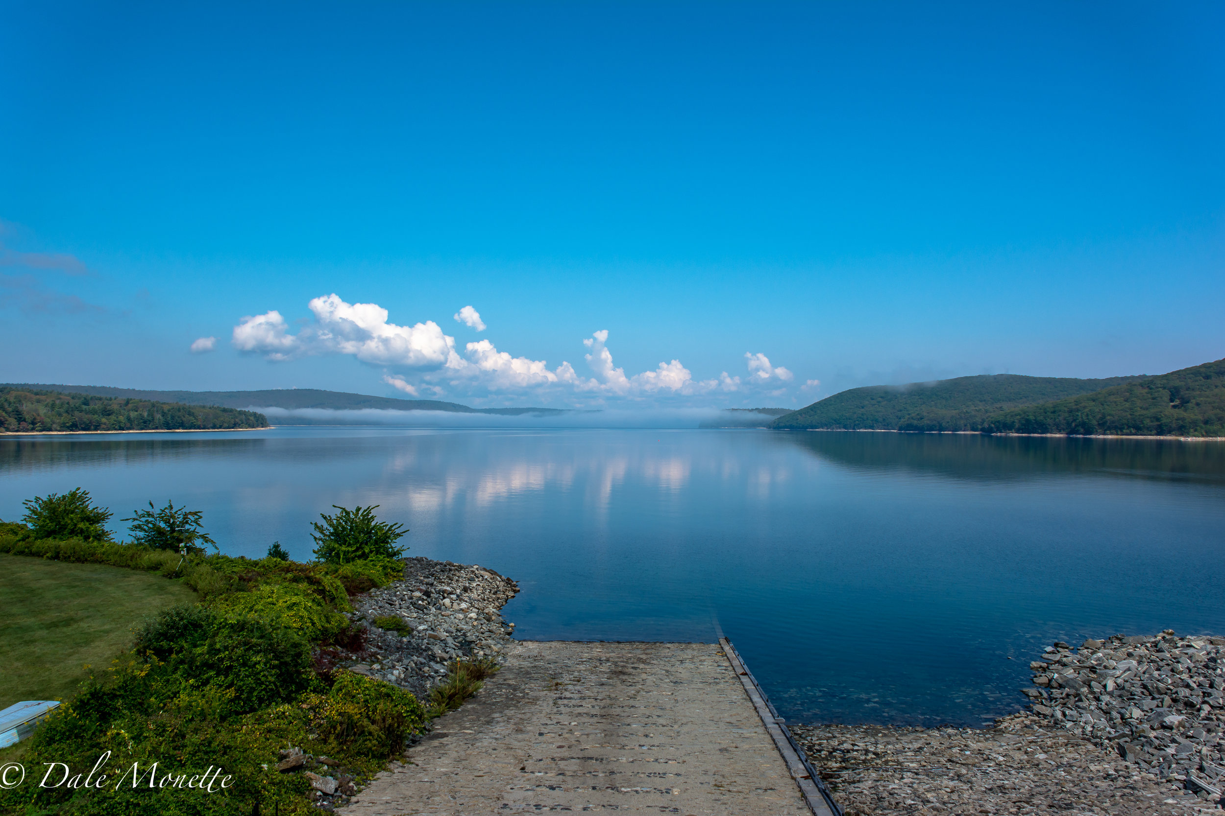 Its been a while since I posted a scenic view of the Quabbin here. This is looking north this morning from the administration building from my office window I was in when I was working there at Winsor Dam in Belchertown with the morning fog almost gone. 9/17/17