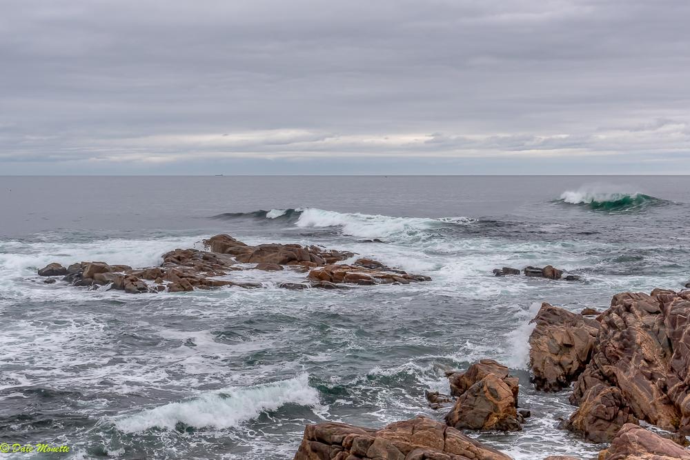 The north Atlantic Ocean at the mouth of Neil's Harbor, Cape Breton, Nova Scotia, Canada……..